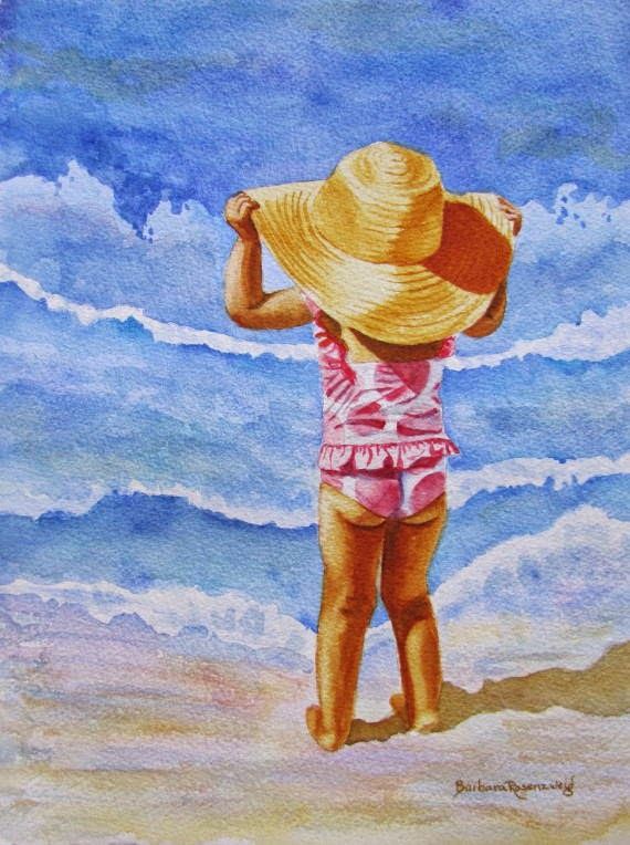 https://www.etsy.com/listing/94598177/beach-girl-polka-dot-sun-hat-art-print?