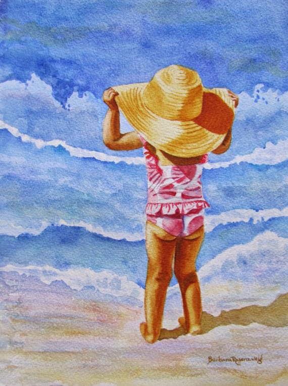 https://www.etsy.com/listing/94598177/beach-girl-polka-dot-sun-hat-art-print?