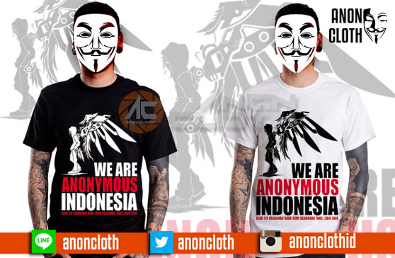 Kaos Anonymous Indonesia Bersayap