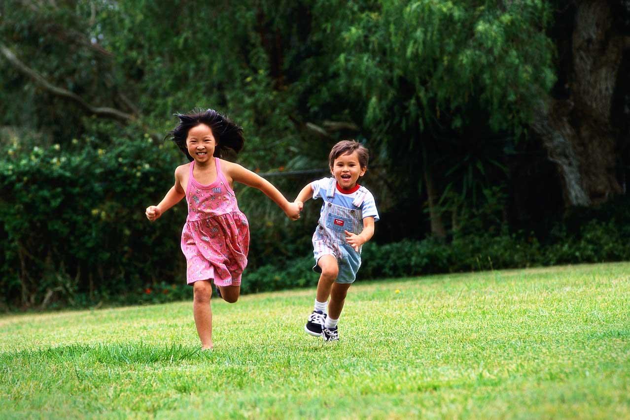 Flip Flops In The Sand.... Children Running Race
