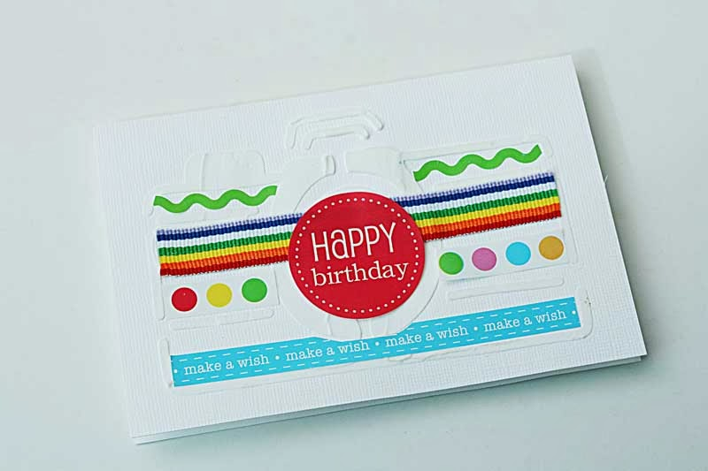 SRM Stickers Blog - Birthday Gift Set by Yvonne - #birthday #stickers #borders #card
