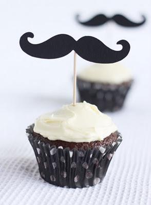 cupcake con mostacho