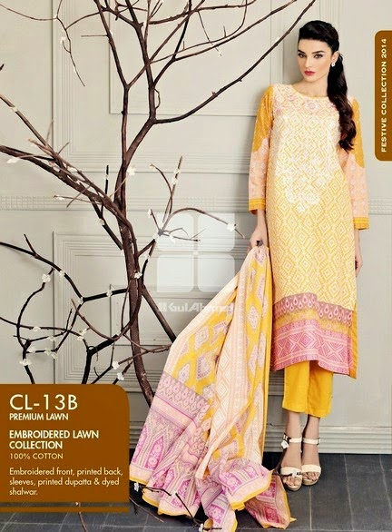 Gul Ahmed Eid Festive Collection 2014