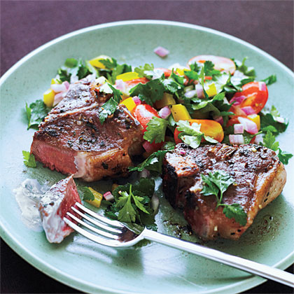 United File: Greek Lamb Chops and Mint Yogurt Sauce Recipe