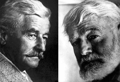 hemingway vs faulkner writing styles A comparison of writing style between earnest hemingway and william faulkner the style in writing can be defined as the way a writer writes and it is the.