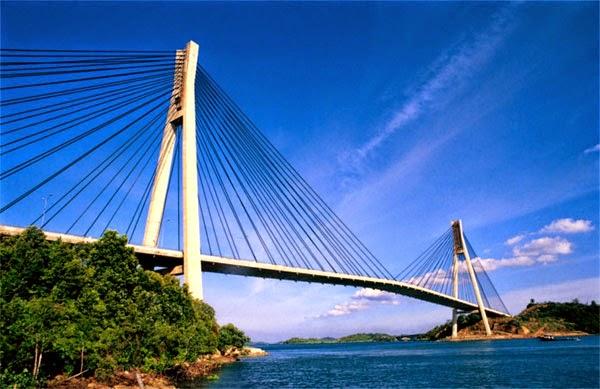 Tempat Wisata di Batam yang wajib dikunjungi adalah Jembatan Barelang