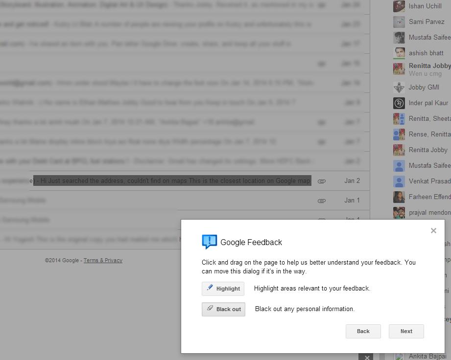 Lt Blak Blackout Gmail feedback