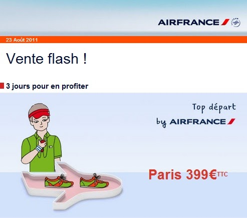 Voyage d part antiles vers paris 399 euros vente flash air france air vac - Discount vente flash ...