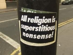 Een eloquente uiting van (anti-)religieuze bijziendheid. Foto: Matt Brown/Flickr.com (CC)
