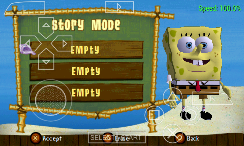 Spongebob Truth or Square PSP/PPSSPP Game