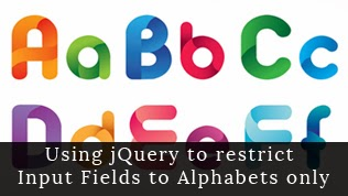 Using jQuery to allow alphabets only to input fields