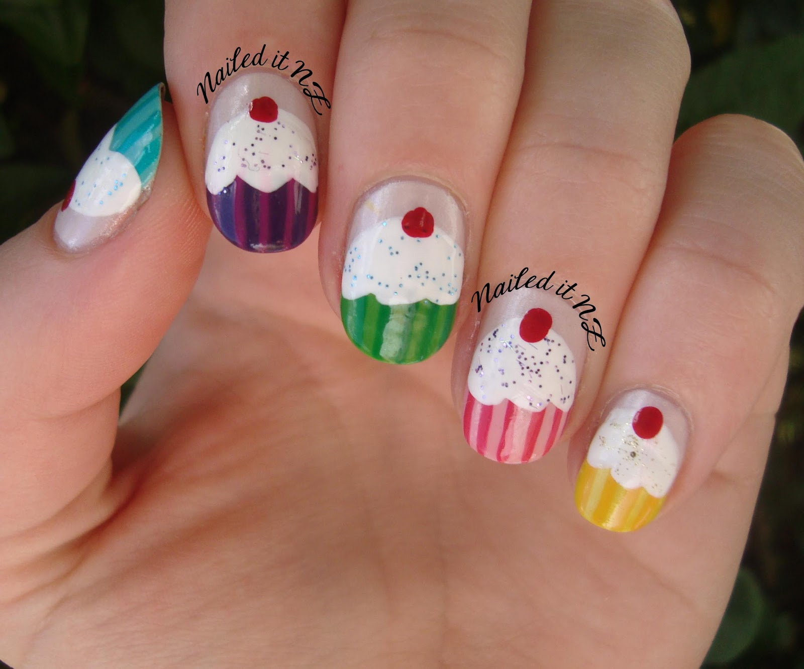 Nail Art For Short Nails 6 Cupcake Nails