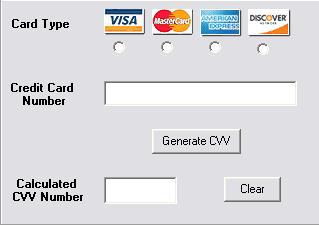 Virtual Credit Card Number CVV Generator