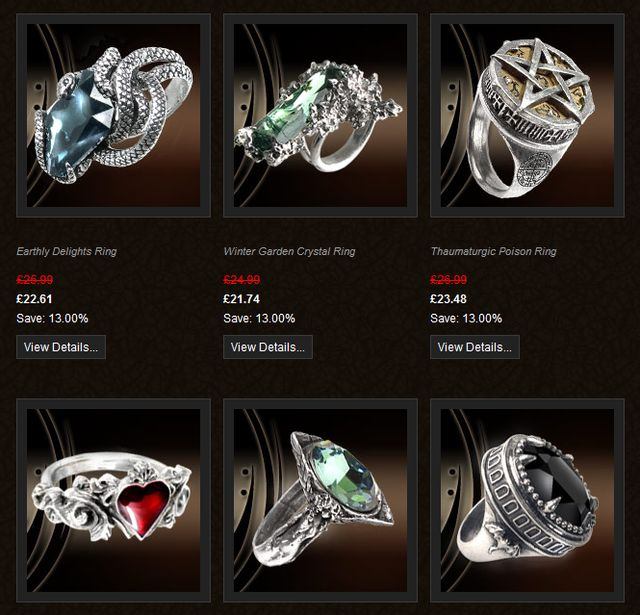 Gothic Rings from GothicBazaar.com