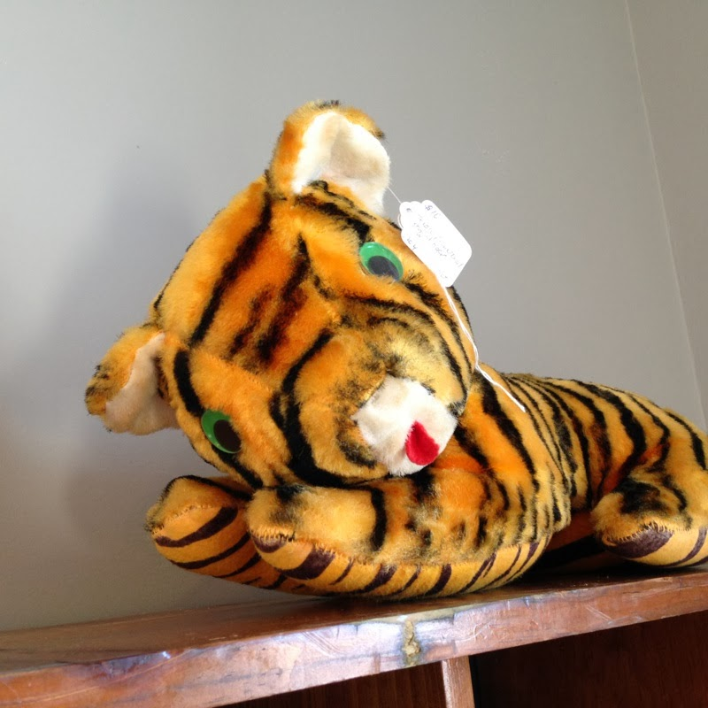 vintage stuffed tiger