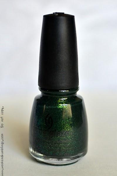 weekend ramblings  china glaze nail polish  glittering garland