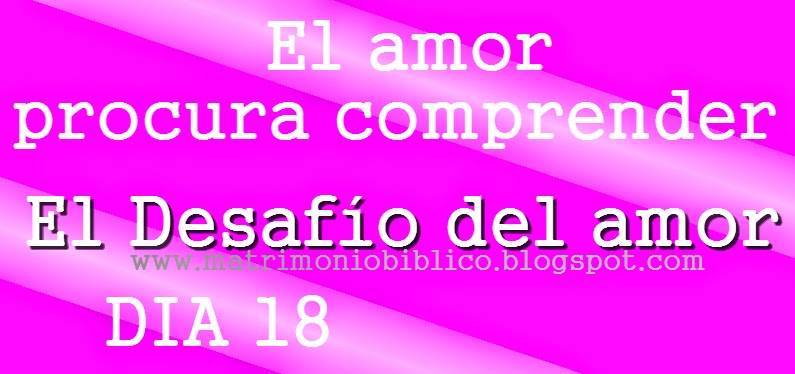 El amor procura comprender - Día 18 de El Desafío del amor