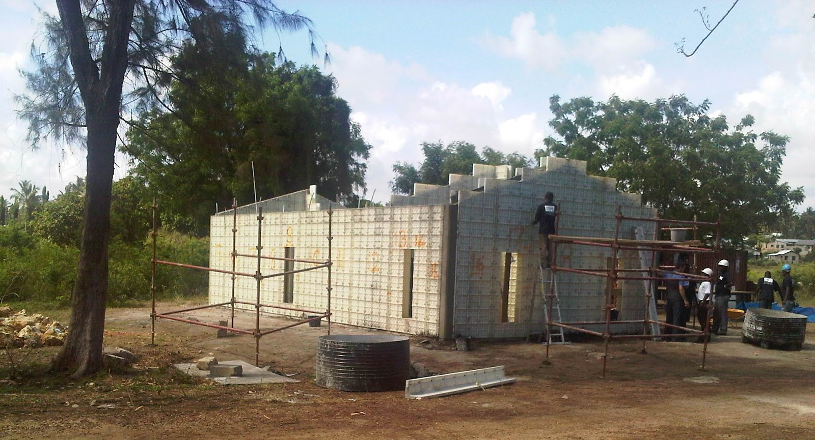 Formwork construction for Affordable house construction
