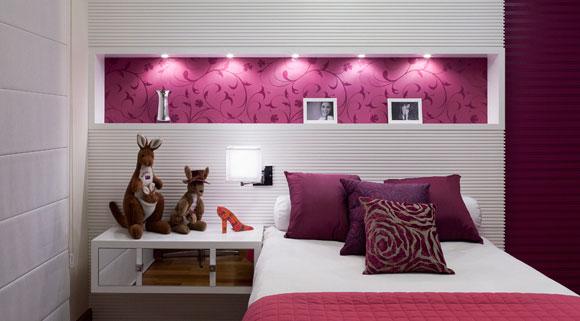 Arquitetura Mix Casa e Decoração ~ Quarto Rosa E Vermelho