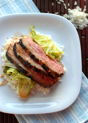 Asian Marinated Flank Steak and Holy Bok Choy