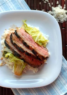 Asian Marinated Flank Steak and Holy Bok Choy