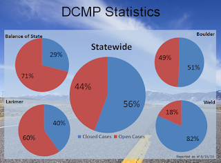 graphic showing disaster case management stats