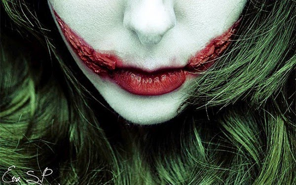 Halloween lip makeup idea