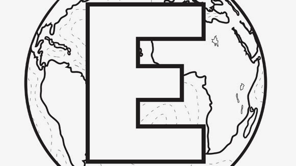 printable alphabet coloring pages Earth