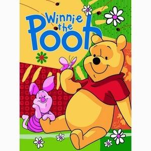 Grosir Selimut Rosanna Soft Panel Blanket Winnie The Pooh