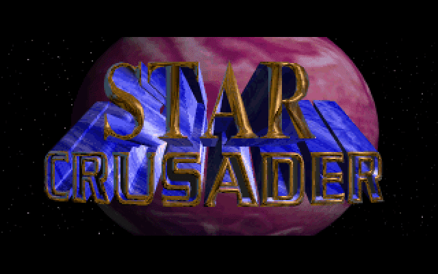 Star Crusader DOS title screen