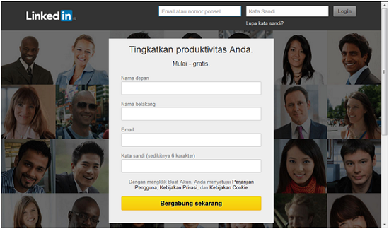 Linkedin, website terpopuler