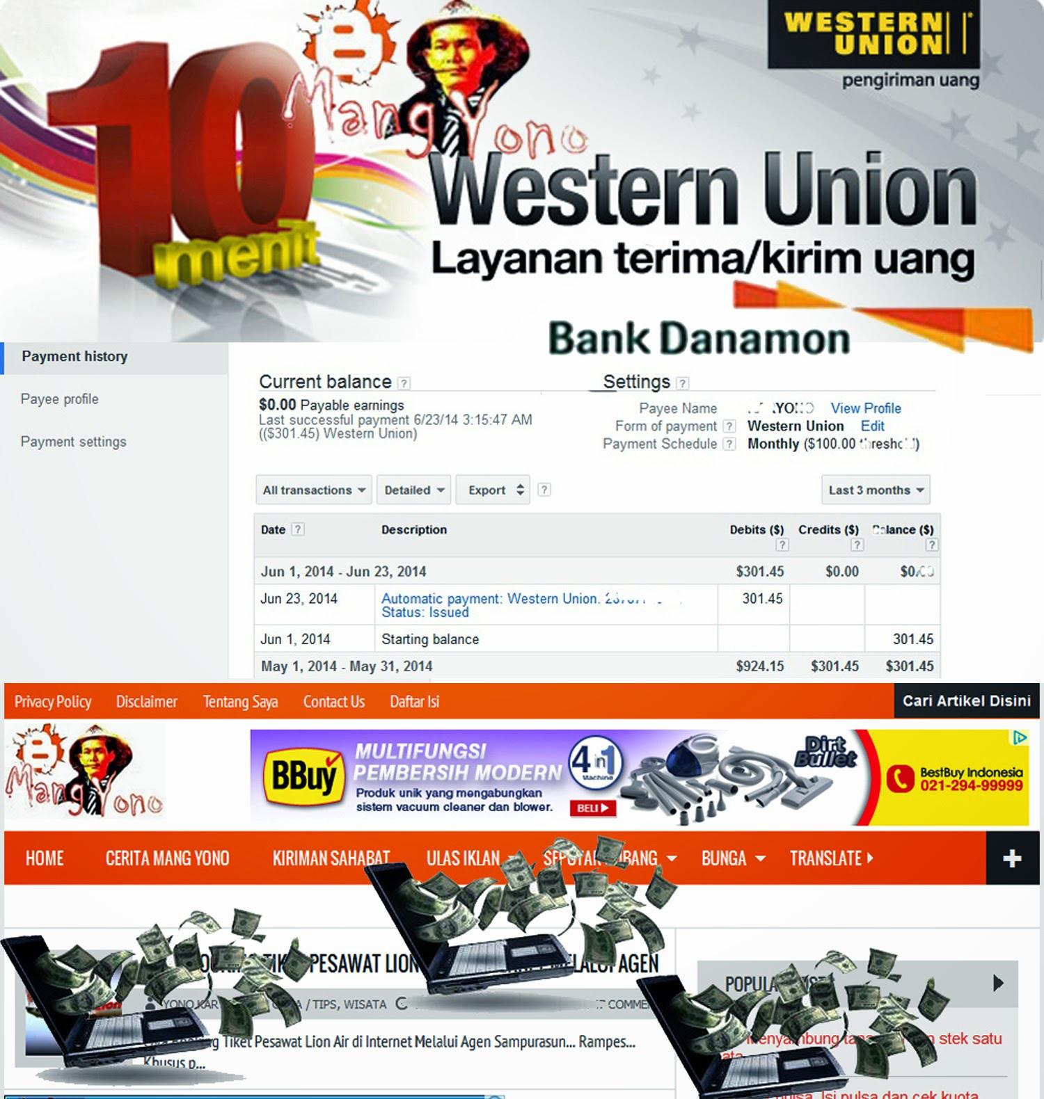 Cuma 10 Menit terima Uang Via Western Union lewat Bank Danamon