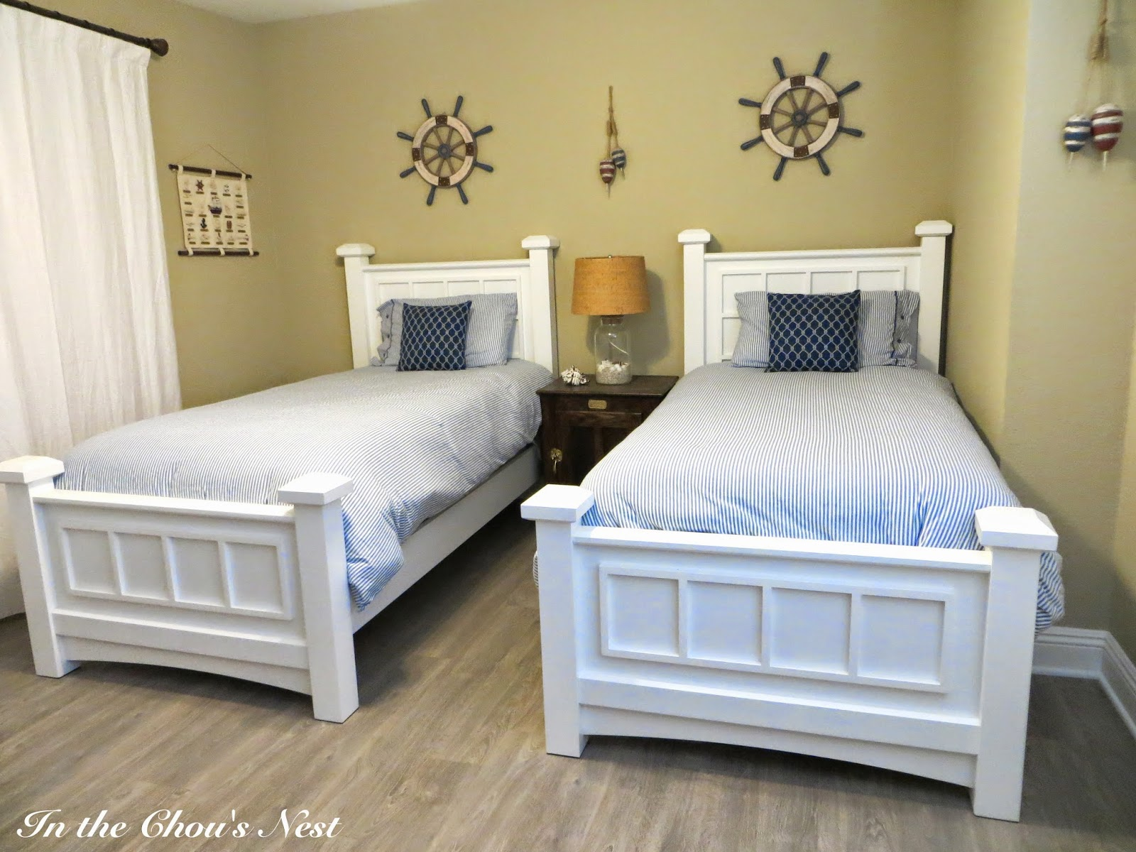 In the chou 39 s nest our home nautical guest bedroom for Guest bedroom furniture