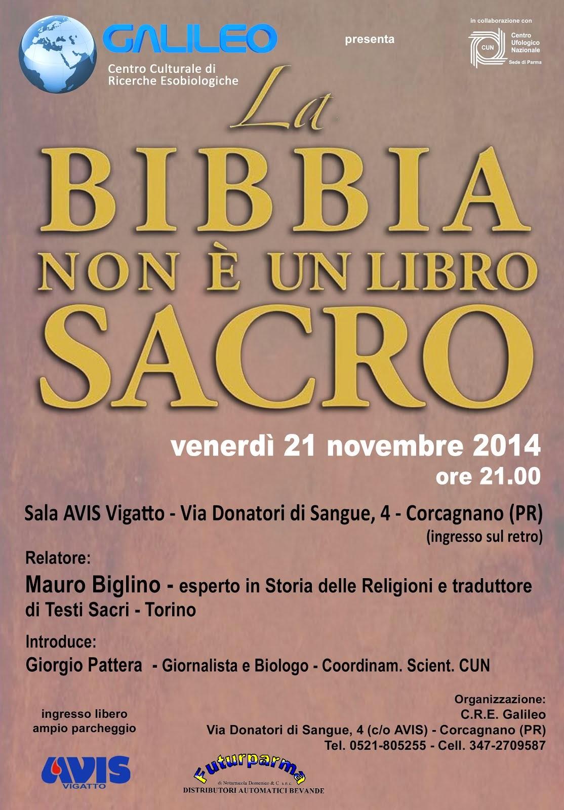 CONFERENZA DI MAURO BIGLINO