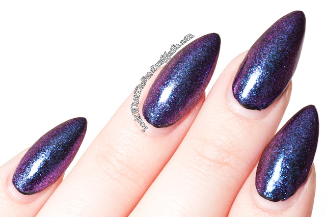Femme Fatale Cosmetics Twilight Meteorite nail polish swatch duochrome
