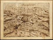 Croquis de la batalla de Alcántara. Autor desconocido