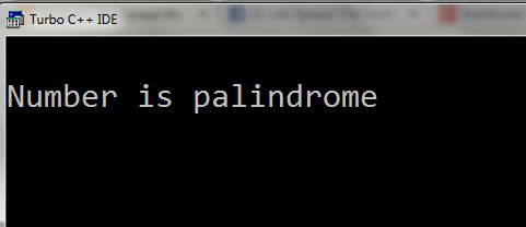 Palindrome-in-c