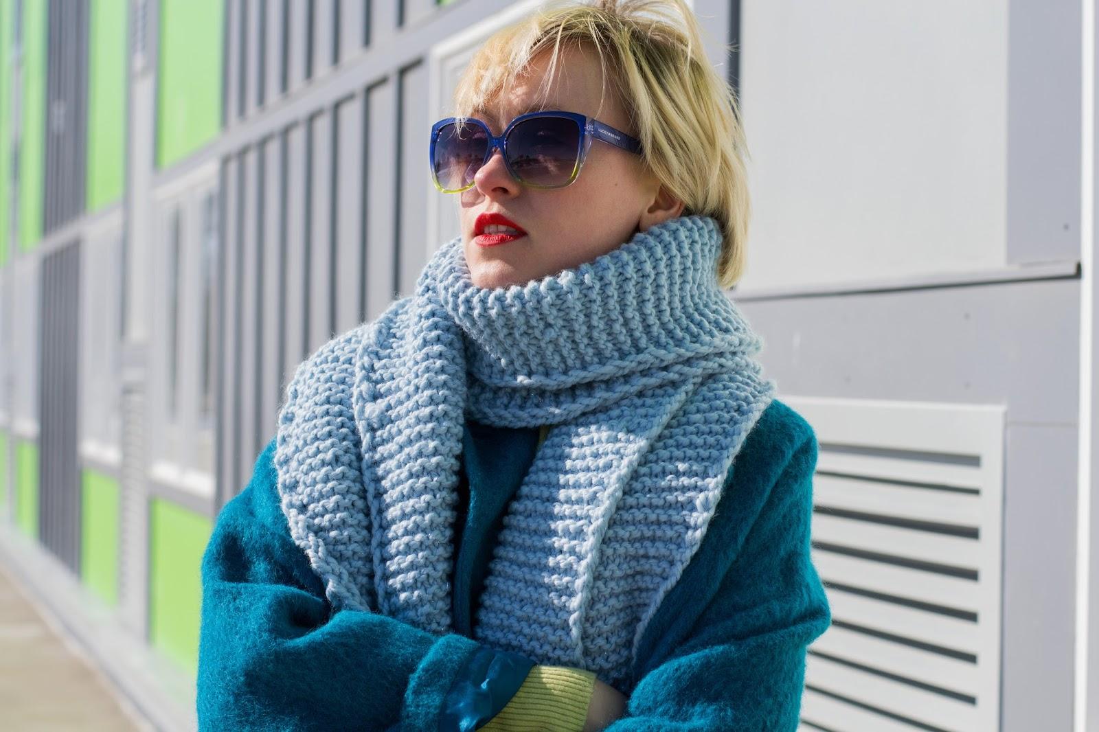 handmade chunky knit scarf
