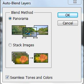 Auto blending layers