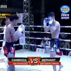 [ Sports ] Keo Rumchong Vs Saif Eddine Harnafi (Germany) 27-Dec-2013 - Boxing, Khmer Boxing, Sports