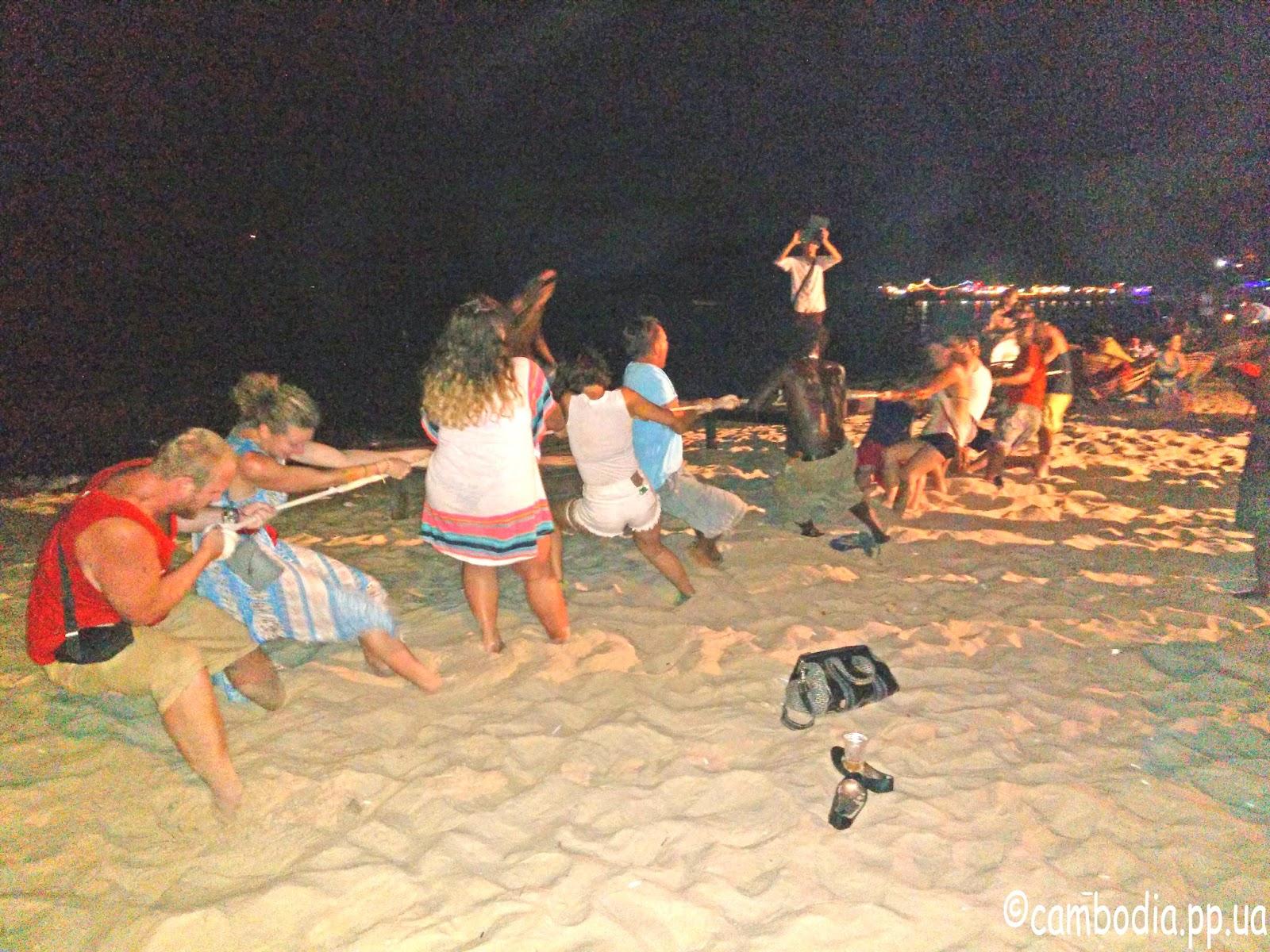 Развлечения на берегу моря в Камбодже