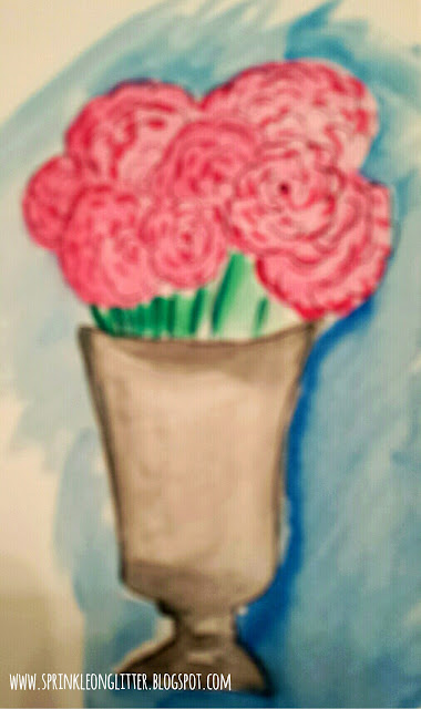 Watercolor Roses- watercolor- write 31 days