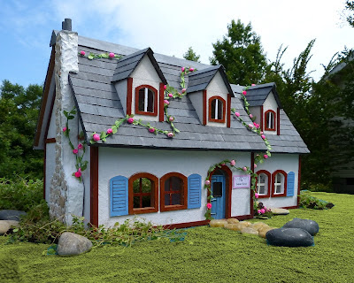 Paper crafts made with paper the enchanted cottage make for How to make your own dollhouse