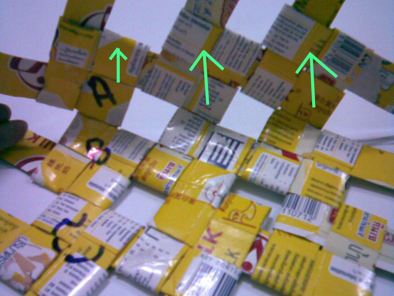 reuse tetra paks , how to make basket   wiederverwenden Milchtüte diy wie kein nähen keinen Kleber Tasche aus Tetrapack Saft Box Webartkorb
