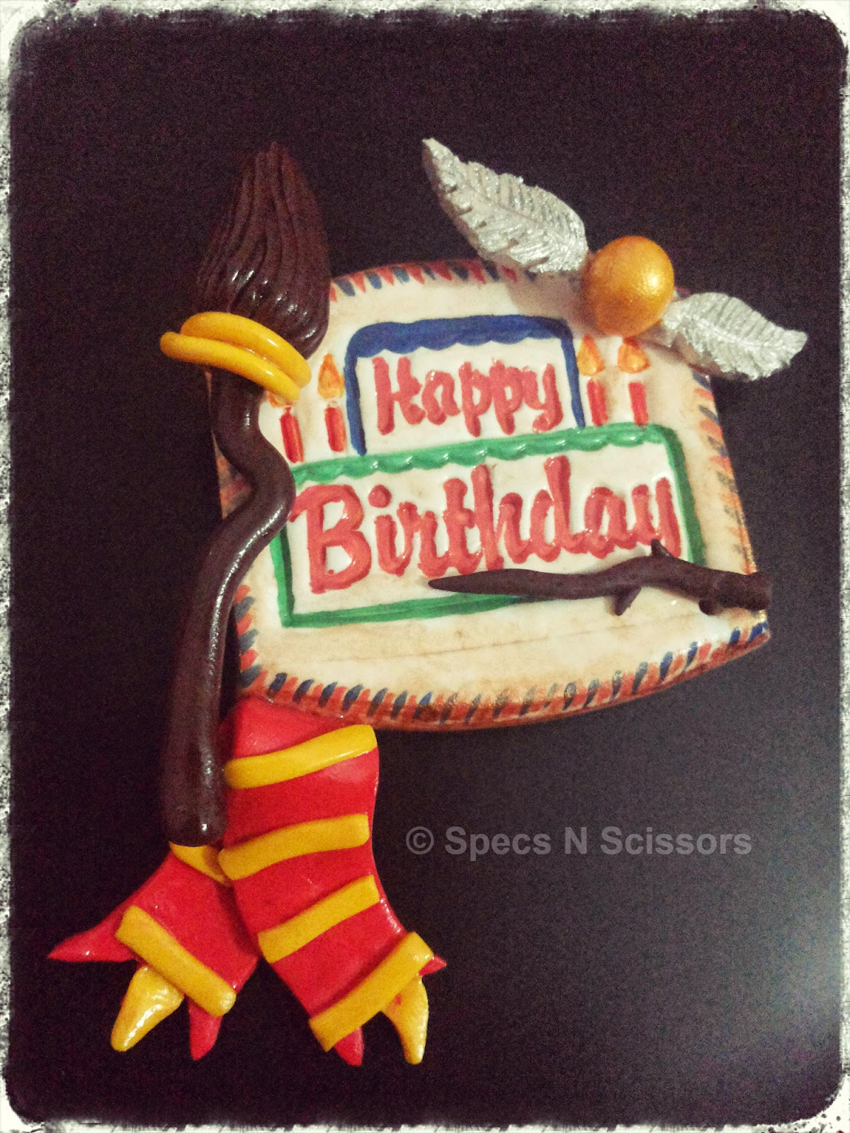 Specs N Scissors - Customized Gifts - Happy Birthday Magnet