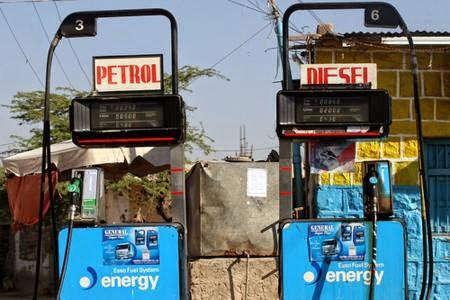 Again the price of petrol and diesel decreased