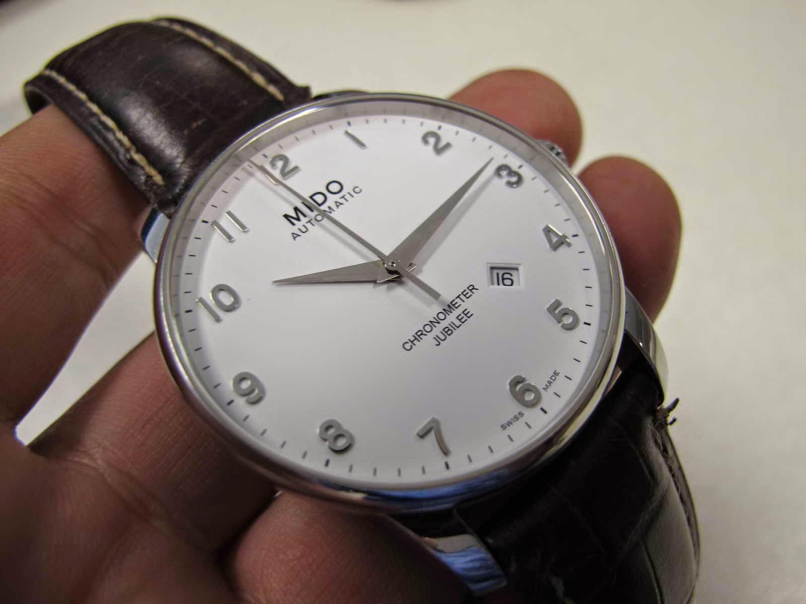 """Kondisi MIDO JUBILEE ini rasa """"Mintz"""" Cocok untuk Anda yang sedang mencari jam tangan dengan dial warna putih bersih Automatic brand MIDO"""