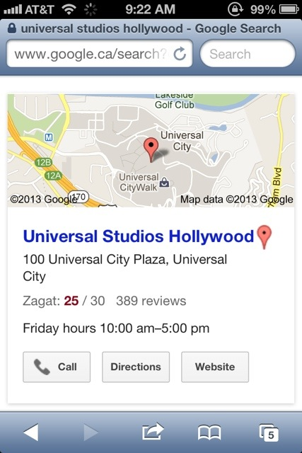 universal studios address