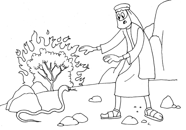 moses staff coloring pages - photo#4