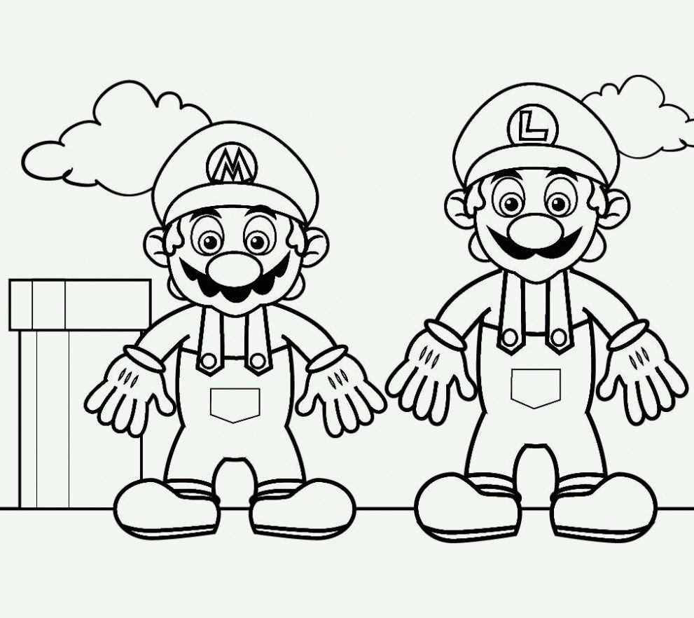 Dibujos para colorear. Maestra de Infantil y Primaria.: Super Mario ...